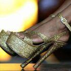 Calçados com glitter