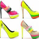 Sapatos cores cítricas