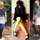 Meia calça colorida