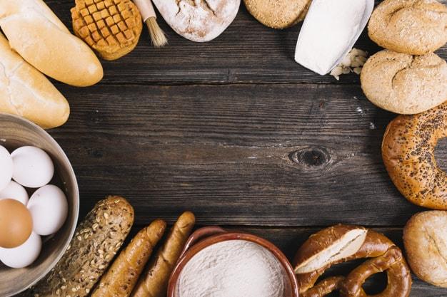 Seleção de alimentos ricos em carboidratos