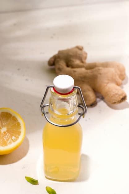 Suco de gengibre e limão