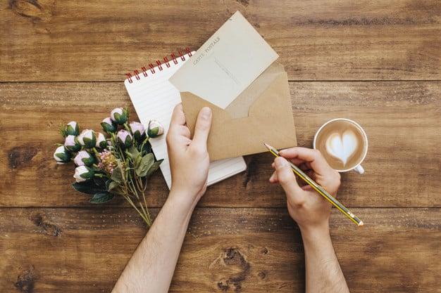 Escrevendo uma carta
