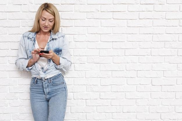 Calça jeans de cintura alta