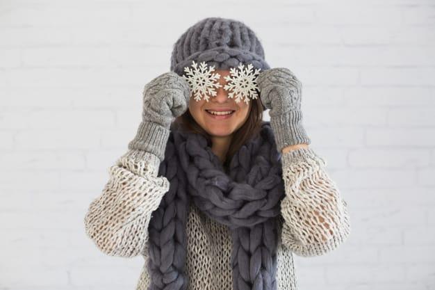 mulher com frio