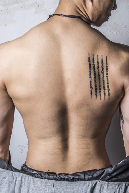 tatuagem de frase
