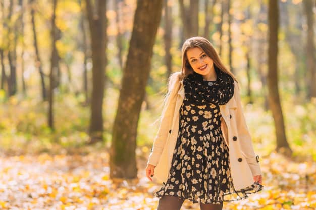vestido no outono