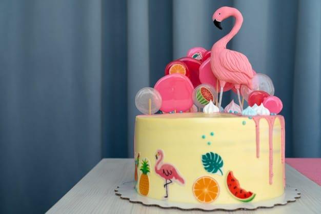 Bolo de flamingo