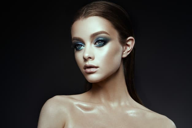 Maquiagem Colorida de Sereia