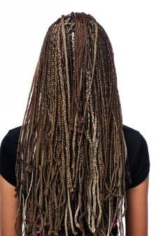 Cabelos com Box braids
