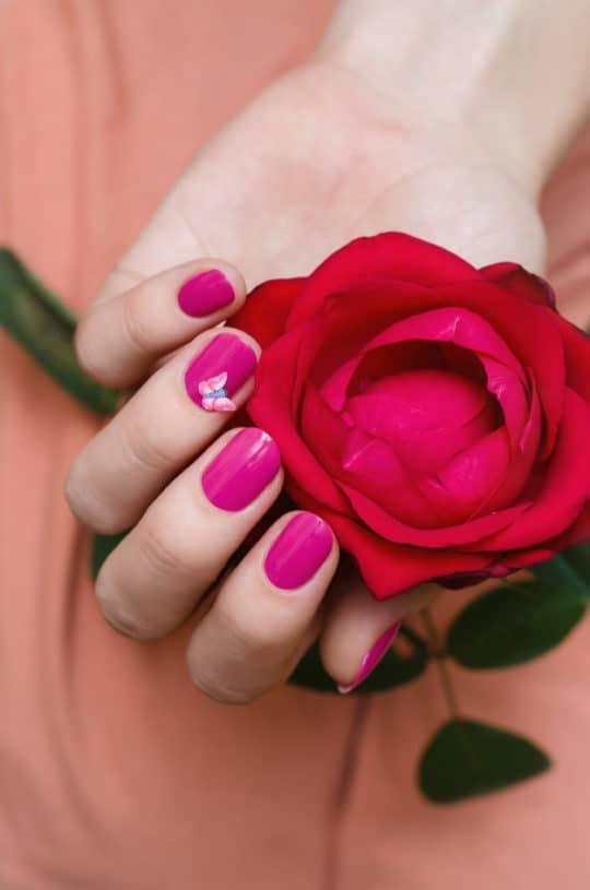 unhas decoradas rosas