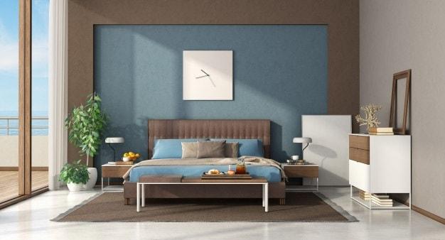 cama posta de casal com cabeceira