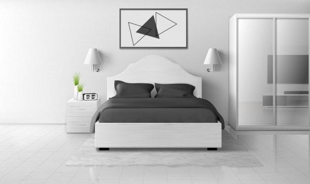 quarto cinza e branco