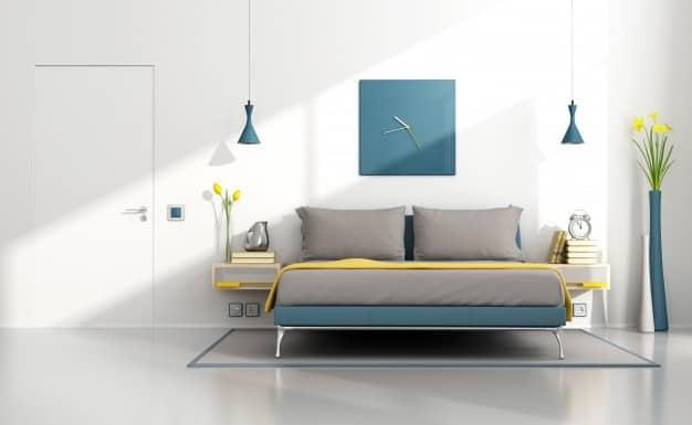 quarto em cores modernas