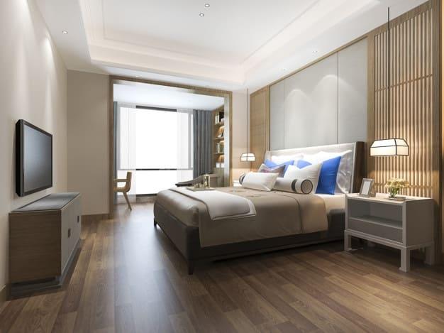 cama com almofadas variadas