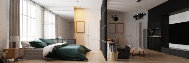 quarto de luxo verde