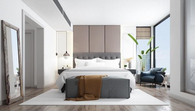 cama posta com manta