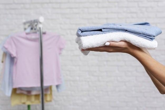roupas em dobra