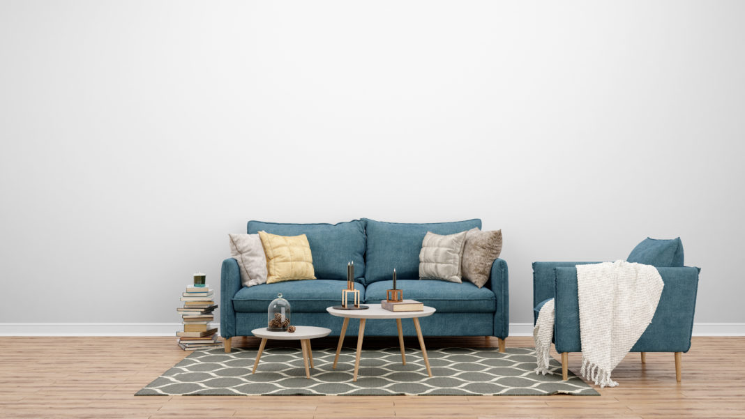 sala de estar com tapete decorativo
