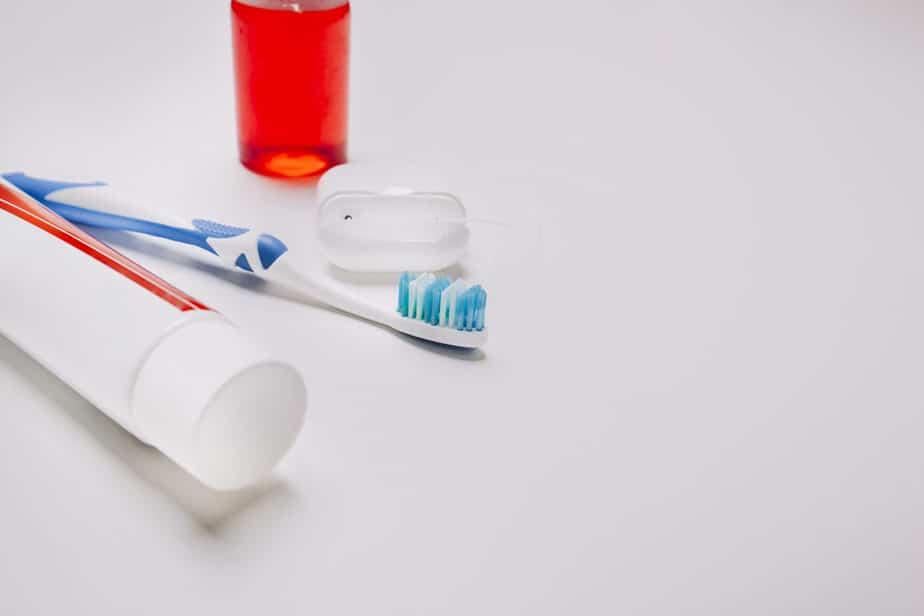 mau hálito kit higiene escova de dente fio dental