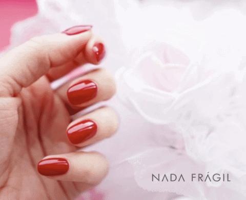 unhas vermelhas para noivas