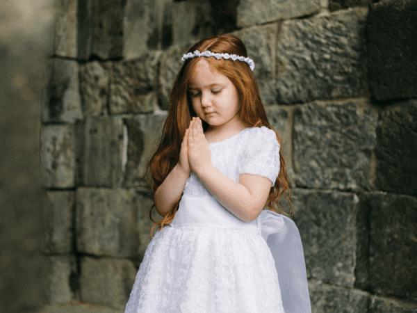 Penteados para primeira eucaristia